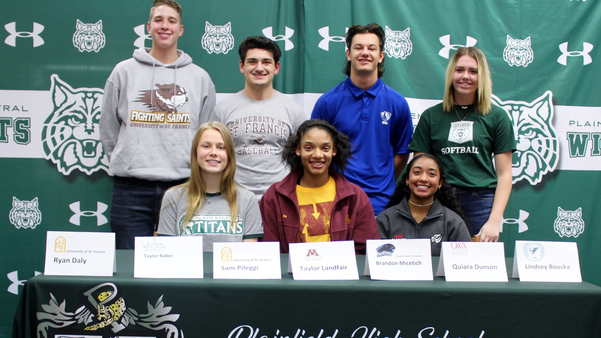 Student athletes sign letters of intent to play collegiate sports